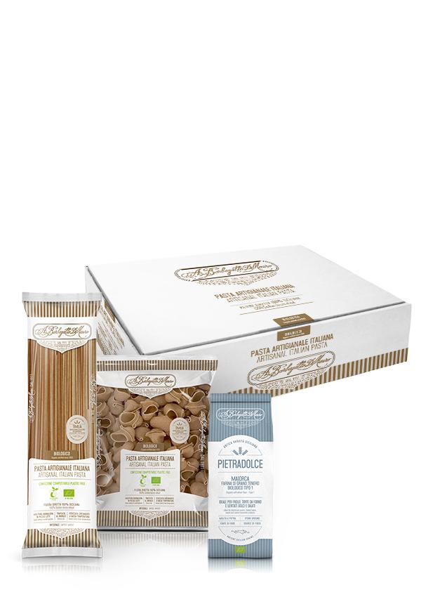 Box degustazione grani antichi siciliani pasta e farine